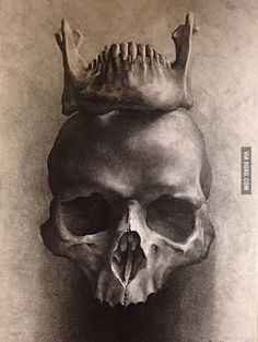 skull sketching