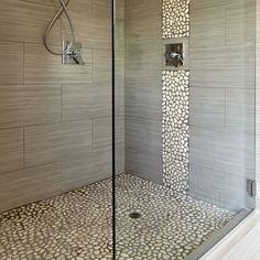 breite begehbare dusche mit glas | haus | pinterest, Badezimmer
