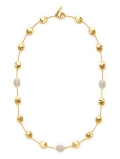 Siviglia Diamond & Gold Oval Station Necklace by Marco Bicego on Gilt.com
