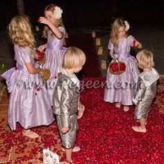 Silk Flower girl dresses and sailor suits by pegeen.com