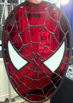 Stained Glass Spidey (click for Princess Peach, Transformers, d20s, Boba Fett, and more)