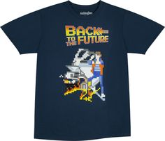 Back To The Future Shirt in collections Movies : Back To The Future Mens T-shirts Bttf, Back To The Future, 8 Bit, Mens Tees, 80s Movies, Mens Fashion, Nerd Stuff, My Style, Pixel Art
