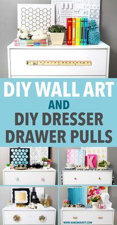 Easy DIY Wall Art & DIY Dresser Drawer Pulls | Karen Kavett
