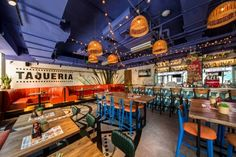 Q Mex Taqueria | the Beijinger Designed by Studio Coromoto AD Beijing Mom's Restaurant, Mexican Restaurant Design, Restaurant Identity, Mexican Restaurants, Retail Interior Design, Restaurant Interior Design, Cafe Interior, Cafe Design, Taco Place