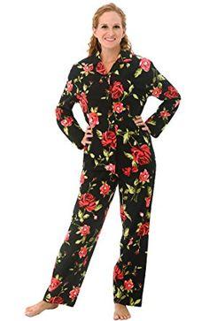 ba127dfded Del Rossa Women s 100% Cotton Flannel Pajama Set - Long Pjs