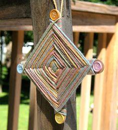 Camp Crafts: God's Eye | Crafts by Amanda