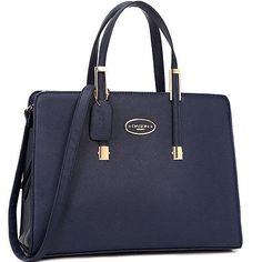 Women-High-Quality-PU-Leather-Briefcase-Laptop-Bag-Business-Bag-with-Gold-Tone