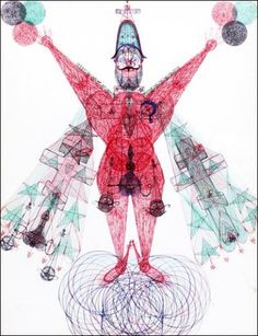 Paris 3e. Galerie Christian Berst - Janko Domsic, Adolf Wölfli - «Le lointain» réunit les œuvres de treize figures classiques ou contemporaines de l'art brut. - paris-art.com -