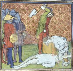 Chroniques de France ou de St Denis, folio 139v. 1380-1400, France #14thcentury #france