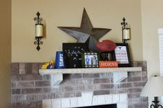 Would love to put a mantel shelf over the basement fireplace.