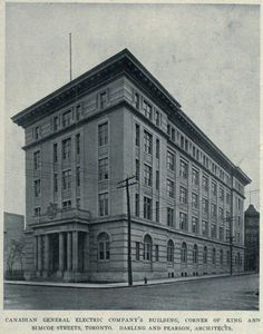 Canadian General Electric Company Building in Toronto, circa 1908 Electric Company, Winning The Lottery, General Electric, Ontario, Toronto, Pride, Louvre, Real Estate, History