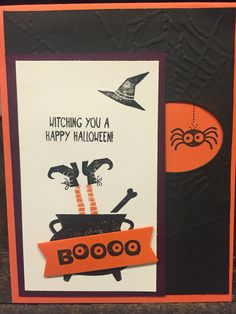 Halloween Card using Stampin' Up Googly Ghouls and Tee-Hee-Hee stamp sets