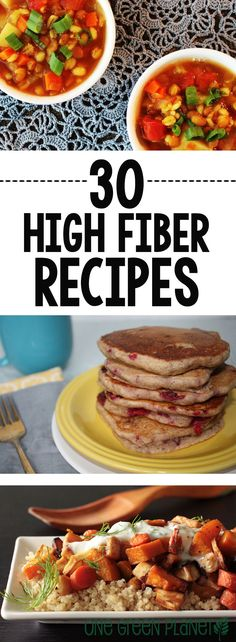 It's hard to maintain a high fiber diet while you're eating plant-based. Here are 30 vegan high fiber recipes! Fiber Rich Foods, Fiber Diet, High Fiber Foods, High Fiber Recipes, High Fiber Veggies, High Fiber Snacks, Diet Recipes, Vegetarian Recipes, Cooking Recipes