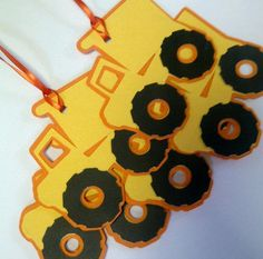 Dump Truck favor tag  Cricut