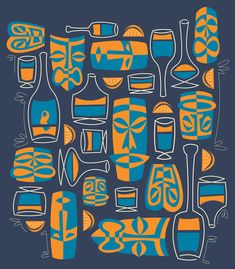 Tiki/Cocktail Pattern Art Print