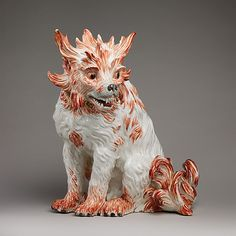 Bolognese dog, ca. 1733. Meissen Manufactory (German, 1710–present). Modeler: Johann Gottlieb Kirchner (German, 1706–after 1738). The Metropolitan Museum of Art, New York. Gift of R. Thornton Wilson, in memory of Florence Ellsworth Wilson, 1954 (54.147.69) #dogs