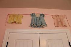Shabby Chic Baby Girl Nursery Vintage Baby Clothesline