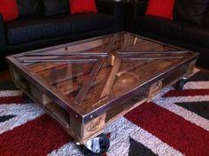 1000 images about on pinterest - Table basse palette industrielle vintage ...