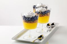 Blueberry-Lemon Parfaits recipe - You won't believe the oohs and aahs you'll get when you present these lovely Blueberry-Lemon Parfaits. Hard to believe they take just 15 minutes to prep.