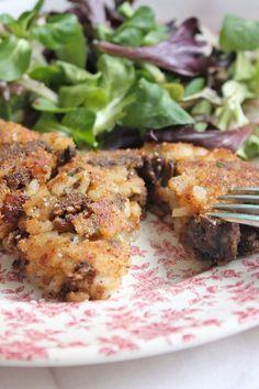Mushroom & Pine Nut Risotto Cakes