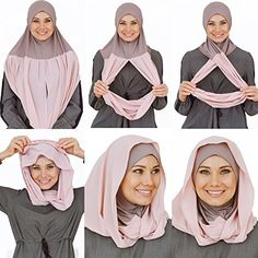 Cotton and Shiffon headscarf, instant hijab, ready to wear hijab for women by VeilWear (powder) Turban Hijab, Mode Turban, Diane Arbus, Womens Fashion Online, Latest Fashion For Women, Muslim Fashion, Hijab Fashion, How To Wear Hijab, Instant Hijab