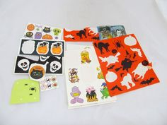 Halloween Party Decor Scrapbook Pumpkin Witch Autumn School Teacher Stickers Lot #Unbranded