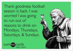 Thank goodness football season is back!