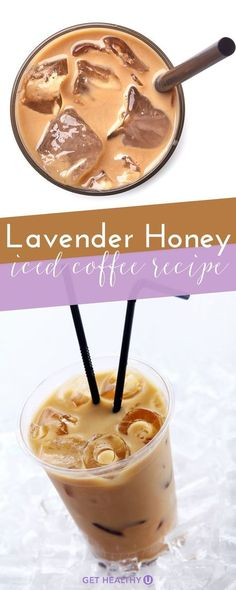 Theres nothing better than an iced latte in the scorching heat of summer. In the winter we love warm peppermint mochas and pumpkin spice lattes but thats a little too rich for the heat. This time of year were opting for a Lavender Honey Iced Latte. Healthy Drinks, Healthy Recipes, Healthy Food, Healthy Iced Coffee, Paleo Coffee, Cheap Recipes, Best Easy Recipes, Iced Coffee Recipes, Perfect Iced Coffee Recipe