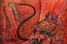 "Aligi Sassu, Lucifero, mosaicista Saletti. In TAMO there is a section dedicated to ""Mosaics between Heaven and Hell"", to celebrate the VII centenary of the birth of Dante. [ #ravenna #myRavenna #dante]"