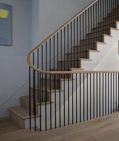 Campden Hill Road — richard lewisohn photographer - architecture/interiors - New Ideas Staircase Railing Design, Modern Stair Railing, Interior Staircase, Open Staircase, Staircase Remodel, Wooden Staircases, Modern Stairs, Stairways, Staircase Ideas