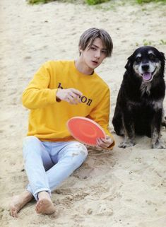 Omfg of course he would talk to a dog, I bet vivi doesn't feel so special anymore~