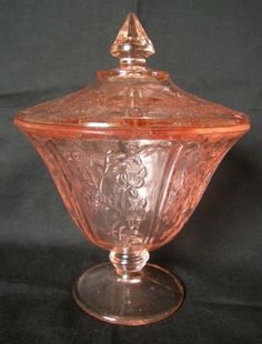 Pink depression Glass. So chic