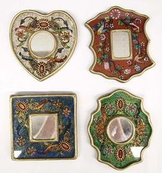 4 Peruvian R. Berrocal Hand Made Mirrors