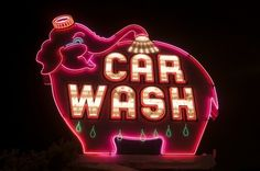 Car wash, Seattle WA  by Curtis Perry