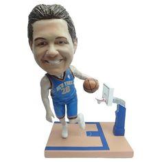 NBA CUSTOM BOBBLEHEADS: DRIVING TOWARDS THE BASKET LEFT HANDED POSE - Purchase here: http://stnr.co/1UuPX2Z