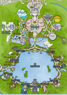 KennythePirate's Epcot character location map