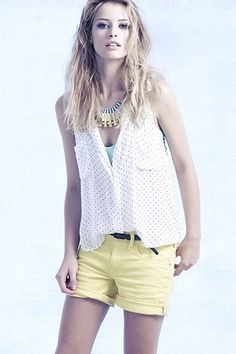 Great with shorts and a tank, the Sleeveless Laurina Top, $78 at Anthropologie.