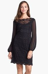 Adrianna Papell Lace & Chiffon Dress