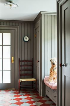 Interior Color Schemes, Gray Interior, Best Interior Design, Interior Design Inspiration, Colour Schemes, Office Built Ins, Library Inspiration, Hallway Inspiration, Cabin Design