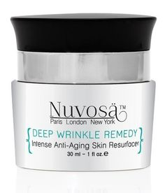 Nuvosa Deep Wrinkle Remedy Anti-Aging Serum by Nuvosa. $98.00. Age Protection Technology perfect for preventing future damage.. Spectacular results on lines, wrinkles, and sagging skin.. Scientifically formulated to reduce the appearance of Sagging Skin, Lines, and Wrinkles WITHOUT painful, expensive injections, and WITHOUT dangerous muscle relaxers or harsh chemical ingredients.. Safe to use around eyes and lips for those stubborn age lines.. Developed with our most...