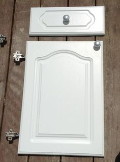 White Howdens Cathedral Style Kitchen Cabinet Doors/ Drawer Fronts & Single cathedral style cabinet door and drawer from http://www ... kurilladesign.com