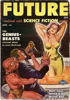Future Science Fiction, Pulp Magazine - 1951 Jan by kocojim, via Flickr
