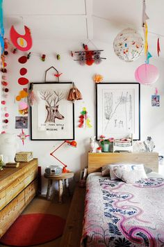 Kids' bedroom walls: 6 fun decorating ideas. Styling by Louella Tuckey. Photography by Anson Smart.