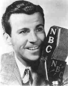 """Dennis Day (born Owen Patrick Eugene McNulty )appeared for the first time on Jack Benny's radio show on October 8, 1939, taking the place of another famed tenor, Kenny Baker. He remained associated with Benny's radio and television programs until Benny's death in 1974. He was introduced (with actress Verna Felton playing his mother) as a young (nineteen year old), naive boy singer — a character he kept through his whole career. His first song was """"Goodnight My Beautiful"""".  Besides singing, Dennis Day was an excellent mimic. He did many imitations on the Benny program of various noted celebrities of the era, such as Ronald Colman, Jimmy Durante, and James Stewart.      Sam Berman's caricature of Dennis Day for 1947 NBC promotional book  From 1944 through 1946, he served in the US Navy as a Lieutenant. On his return to civilian life, he continued to work with Benny while also starring on his own NBC show, A Day in the Life of Dennis Day (1946–1951). Day's having two programs in comparison to Benny's one was the subject of numerous jokes and gags on Benny's show, usually revolving around Day rubbing Benny's, and sometimes other cast members and guest stars' noses in that fact."""