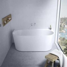 CAROMA AURA BTW FREESTANDING BATH 1400X735X560MM
