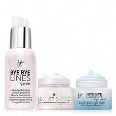 IT Turns Back Time Skincare Trio! ($83 Value) #AntiAgingEyeCream Best Makeup Primer, Best Makeup Products, Anti Aging Moisturizer, Tinted Moisturizer, Primer Oil, Oil Free Makeup, Anti Aging Eye Cream, Face Serum, Cool Eyes