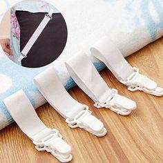 4Pcs/Set Bed Sheet Mattress Blankets Elastic Grippers Fasteners Clip Holder #Affiliate