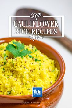 We make a lot of cauliflower rice recipes as side dishes for our main meals. Theyre all keto, paleo, low-carb very healthy. Serve one up with dinner tonight! via My Keto Kitchen - Ketogenic, Low Carb and Gluten Free Recipes Healthy Vegetable Recipes, Vegetable Nutrition, Healthy Chicken Recipes, Rice Recipes, Low Carb Recipes, Ketogenic Recipes, Healthy Nutrition, Diabetic Recipes, Delicious Recipes