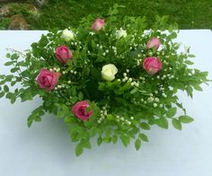 Summer party, pink & white roses
