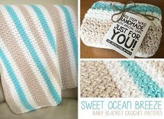 Calming Crochet Baby Blanket - It's quick to crochet, so keep this free afghan pattern in mind the next time you are headed to a baby shower.